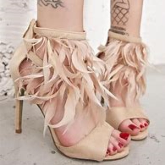Dolls Kill Shoes - Exotica Feathered Heels